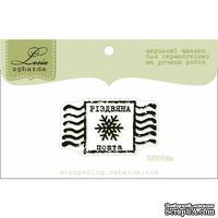 Акриловый штамп Lesia Zgharda SR059a Різдвяна марка, размер 3,6х2 см.