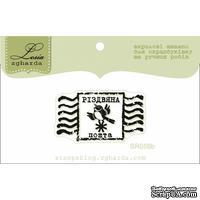 Акриловый штамп Lesia Zgharda SR059b Різдвяна марка, размер 3,6х2 см.