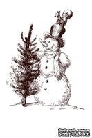 Акриловый штамп Christmas Stamp SR076 Снеговик, размер 5,2 * 6,7 см