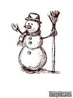 Акриловый штамп Christmas Stamp SR078 Снеговик, размер 4,4 * 5,7 см