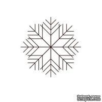 Акриловый штамп Christmas Stamp SR079 Снежинка, размер 2,1 * 2,1 см