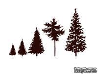 Набор акриловых штампов Christmas Stamp Trees SR080 Елки, 5 штук