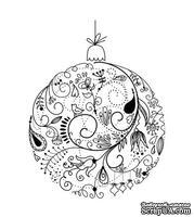 Акриловый штам  SR085 Новогодний шар, размер 4,3х5,7 см