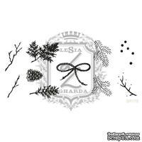 Акриловый штамп Lesia Zgharda SR178 Веточки, шишки, ягодки, набор из 10 штампов