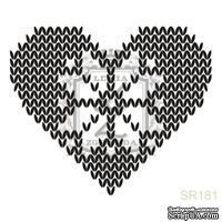 Акриловый штамп Lesia Zgharda SR181 Вязаное сердечко, размер 4.5х3.8 см