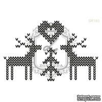 Акриловый штамп Lesia Zgharda SR183 Влюбленные олени, набор из 4 штампов