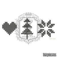 Акриловый штамп Lesia Zgharda SR184 Вязаные элементы, набор из 3 штампов