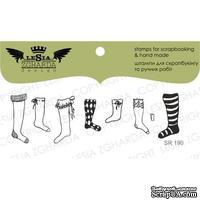 Акриловый штамп Lesia Zgharda SR190 Socks, 5 шт., размер набора 9x5 см