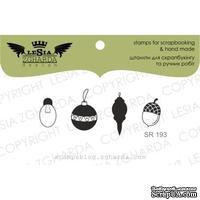 Акриловый штамп Lesia Zgharda SR193 Balloon+bulb+acorn, 4 шт., размер набора 9x5 см
