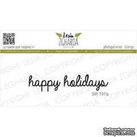 Акриловый штамп Lesia Zgharda SR197a Happy holidays, размер 5.3х1.1 см