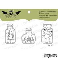 Акриловый штамп Lesia Zgharda SR202 Stamp Set Winter in jar, 3 шт., размер набора 10х10 см