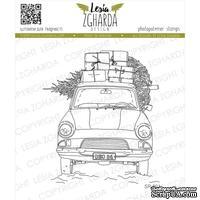 Акриловый штамп Lesia Zgharda SR221 Car with gifts, размер 6.9х7.8 см