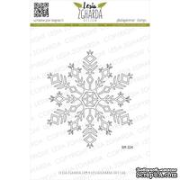 Акриловый штамп Lesia Zgharda SR224 Fluffy snowflake, размер 8х6.9 см