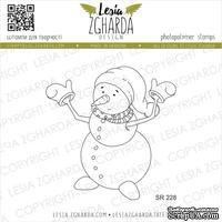 Акриловый штамп Lesia Zgharda SR228 Funny snowman, размер 5.9х6 см