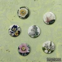 ЦЕНА СНИЖЕНА! Набор фишек для скрапбукинга Цветы