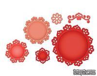 Набор лезвий от Spellbinders - Accents & Motifs Floral Doily Motifs