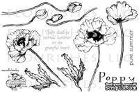 Набор акриловых штампов от Flourishes - Poppy Patch Stamp Set