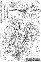 Набор акриловых штампов от Flourishes - Sweet Peas Stamp Set