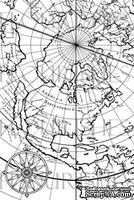 Акриловый штамп от Flourishes - Antique Map