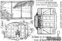 Набор акриловых штампов от Flourishes - Windows To The World