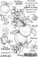 Набор акриловых штампов от Flourishes - Apple of my Eye