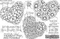 Акриловый штамп от Flourishes - Hearts & Flowers