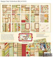 Набор бумаги и декора от Simple Stories - Happy Day -Collection Kit, 30x30см