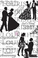 Акриловый штамп от Flourishes - Wedded Bliss