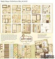 Набор бумаги и декора от Simple Stories - Baby Steps -Collection Kit, 30x30см