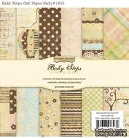 Набор бумаги от Simple Stories - Baby Steps, 15x15см, 36 листов