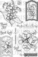 Набор акриловых штампов от Flourishes - Botanical Bookplates Vol. 2