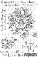 Набор акриловых штампов от Flourishes - Roses are Red