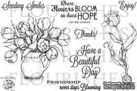 Набор акриловых штампов от Flourishes - Tulips for Friends