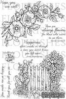 Акриловый штамп от Flourishes - Garden Gate