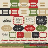 "Лист наклеек от Kaisercraft - Bon Appetit Cardstock Stickers 12""X12"", 30х30 см"