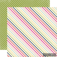 Двусторонний лист бумаги от Echo Park - Sunny Stripe, 30,5x30,5см