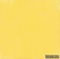Лист скрапбумаги от Echo Park - Yellow/Navy Distressed Solid, 30х30 см