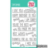 Акриловый штамп Avery Elle - Handwritten Notes Clear Stamps