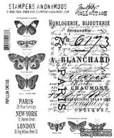 Резиновые штампы от Tim Holtz - Cling Mounted Stamp Sets - Papillon, 11 шт
