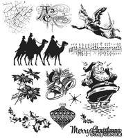 Набор резиновых штампов Stampers Anonymous - Tim Holtz - Mini Holidays, 12 шт.
