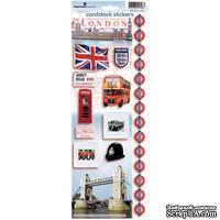 "Наклейки от Paper House Cardstock Stickers 4.625""X13"" -  London, 11х33 см"