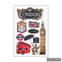"Объемные наклейки от Paper House 3D Stickers 4.5""X7.5"" - Discover London, 11х19 см, 9 шт."