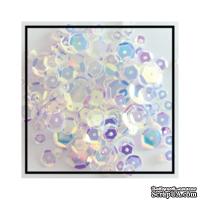 Набор для декорирования от Studio Katia -- Пайетки - Crystal Clear - Sequins Fusion, 4 мм, 6 мм, 8мм, 10 мм