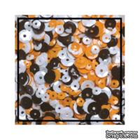 Набор для декорирования от Studio Katia -- Пайетки - Хэллоуин - Блестки, 4мм -6 мм