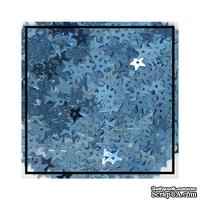 Набор для декорирования от Studio Katia -- Пайетки - Металлические звезды, 7 мм