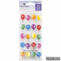 Наклейки от Paper House - Puffy Stickers - Birthday Balloons, 7,6x16,5 см, 20 шт