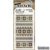 Маска Ranger - Tim Holtz - Layering Stencil - Holiday Knit, 13х20 см - ScrapUA.com