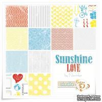 Набор двусторонней скрапбумаги Studio75 - The Sunshine love collection, 30х30 см