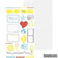 Лист двусторонней скрапбумаги Studio75 - The Sunshine love Papier 11-12, 17х30 см