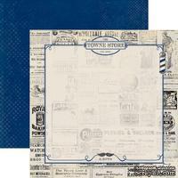 Лист скрапбумаги Authentique Dapper, 30х30 см, двусторонняя